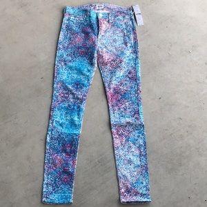 Hudson Jeans Nico Mid Rise Skinny Spray Paint NWT